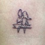 Mini funny tattoo 108