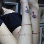 Mini funny tattoo 110