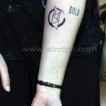Mini funny tattoo 123
