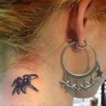 Mini funny tattoo 69