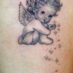 Mini funny tattoo 85